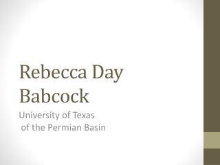 Rebecca Day Babcock