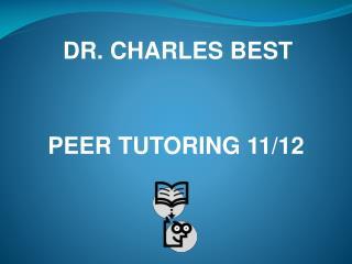 DR. CHARLES BEST