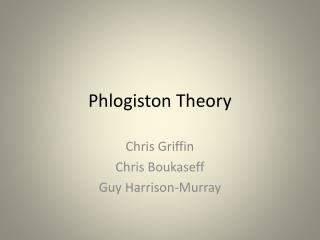 Phlogiston Theory