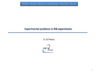 Experimental problems in RIB experiments