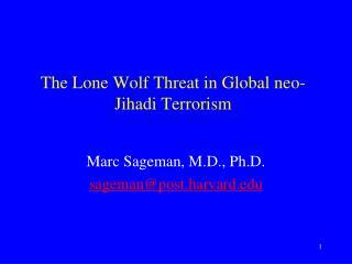 The Lone Wolf Threat in Global neo- Jihadi  Terrorism