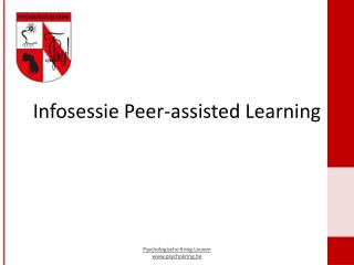 Infosessie Peer-assisted  L earning