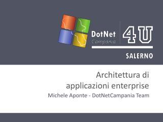 Architettura  di  applicazioni  enterprise