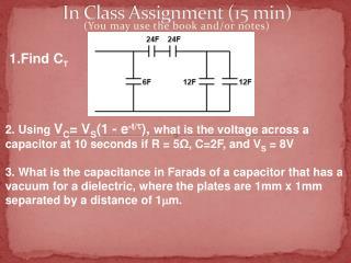 In Class Assignment (15 min)