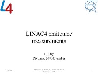 LINAC4  emittance  measurements