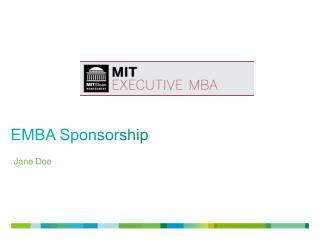 EMBA Sponsorship