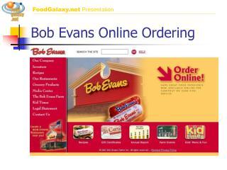 Bob Evans Online Ordering