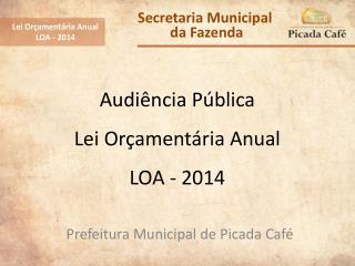 Audiência Pública Lei Orçamentária Anual LOA - 2014