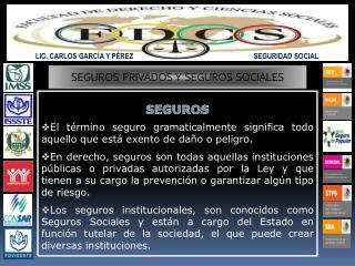 LIC. CARLOS GARCÍA Y PÉREZ