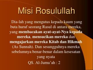 Misi Rosulullah