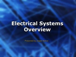Electrical Systems Overview