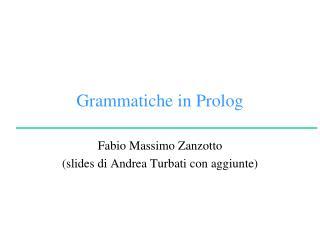 Grammatiche in  Prolog