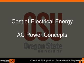 Cost of Electrical Energy AC Power Concepts