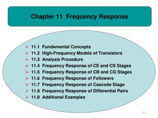 Chapter 11 Frequency Response