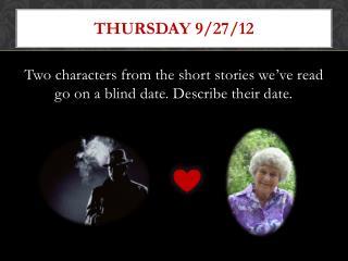 Thursday 9/27/12