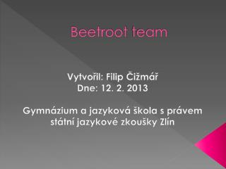 Beetroot  team