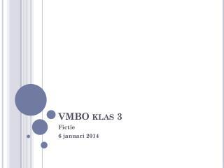VMBO klas 3