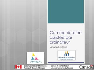 Communication assistée par ordinateur
