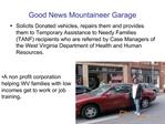Good News Mountaineer Garage