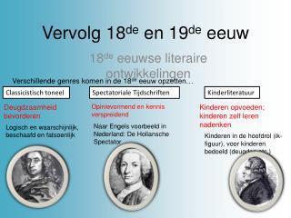 Vervolg 18 de  en 19 de  eeuw