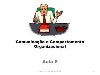 Comunicação e Comportamento Organizacional