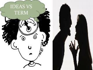 IDEAS VS TERM