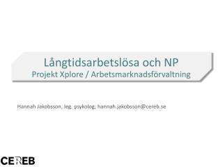 Hannah Jakobsson, leg.  p sykolog;  hannah.jakobsson@cereb.se