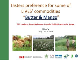 """Tasters preference for some of LIVES' commodities    """" Butter & Mango """""""