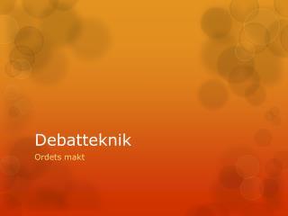 Debatteknik