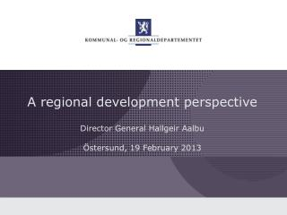 A regional development perspective