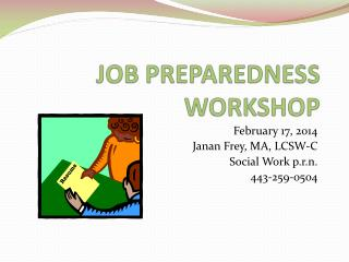 JOB PREPAREDNESS WORKSHOP