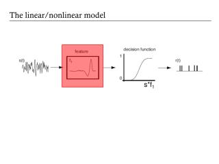 The linear/nonlinear model