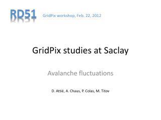 GridPix studies at  Saclay