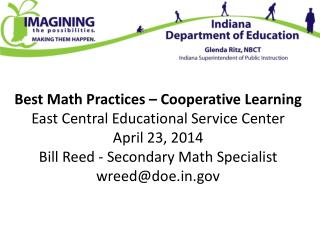 Best Math Practices – Cooperative  Learning  East Central Educational Service  Center