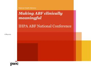 Making ABF clinically meaningful