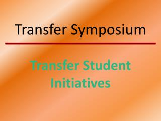 Transfer Symposium