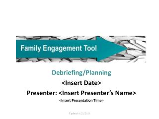 Debriefing/Planning <Insert Date> Presenter: <Insert Presenter's Name> <Insert Presentation Time>