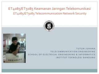Tutun  Juhana  Telecommunication engineering School of electrical engineering & informatics
