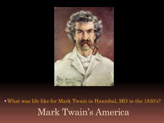 Mark Twain's America