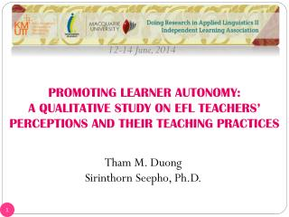 PROMOTING LEARNER AUTONOMY: