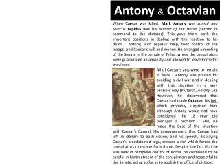Antony & Octavian