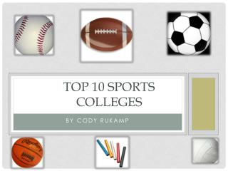 Top 10 Sports Colleges