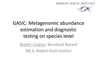 GASiC: Metagenomic abundance estimation and diagnostic testing on  species level