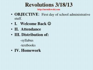 Revolutions  3/18/13  http://mrmilewski.com