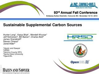 Sustainable Supplemental Carbon Sources