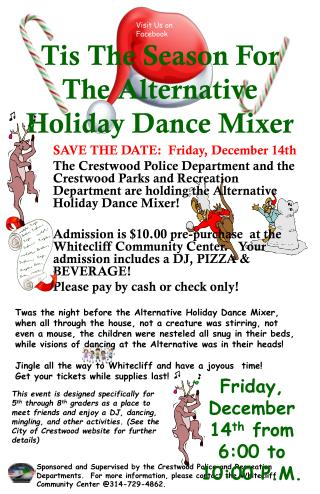 Tis  The Season For  The Alternative Holiday Dance Mixer
