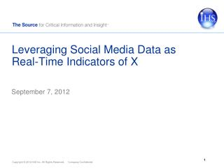 Leveraging Social Media Data as Real-Time Indicators of X