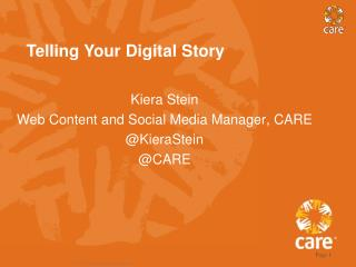 Telling Your Digital Story