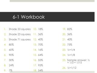 6-1 Workbook