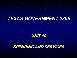 TEXAS GOVERNMENT 2306